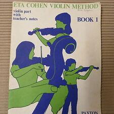 Violín ETA Cohen Violín método Libro 1, vilolin parte con notas del profesor