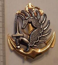 insigne militaire-pucelle TROUPE DE MARINE PARA dos lisse
