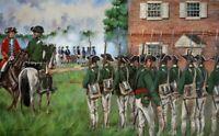Maritato Signed Revolutionary War Art Print Crosswicks NJ 1778 Queens Rangers