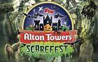 ALTON TOWERS SCAREFEST X2  E TICKET Saturday 23rd OCT 2021 23/10/21