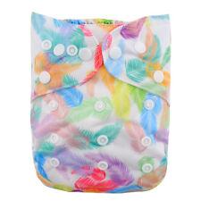 NEW Alva Baby Regular OS Reusable Pocket Cloth Diaper Nappy+1Insert feather YA75