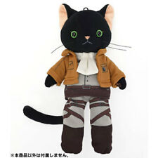 Attack on Titan Nya-Colle Black Plush Cat Figure with Costume - Levi Version