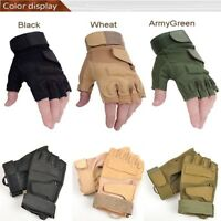 Durable Multi-use Riding Game Gloves Outdoor Fingerless Military Tactical