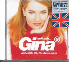 GINA G - Ooh Aah.. Just a littlebit (DANCE MIXES) CDM 6TR EUROVISION 1996 UK