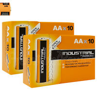 20 x Duracell AA batteries Industrial Alkaline 1.5V MN1500 LR6 MIGNON Pack of 10