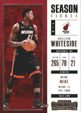 New listing 2017-18 Panini Contenders Season Ticket #63 Hassan Whiteside NM-MT Heat J2M