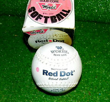 Vintage Worth Red Dot White Softball In Original Box New Never Used