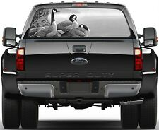 Wild Geese on a Lake B/W Version 1 Rear Window Graphic Decal Truck SUV