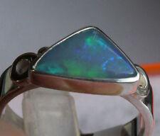 Brazil Crystal Opal 1.5 Karat 950er Silberring Größe 17,8 mm