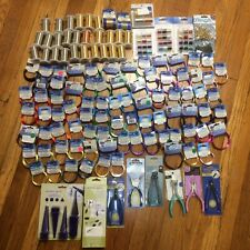 HUGE Wire Wrapping / Craft Lot Copper, Aluminum, Brass, And Tools. 120+ Pieces!!