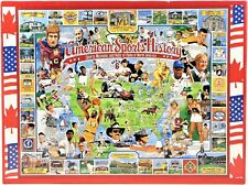 White Mountain Puzzles American Sports History 1000 Piece Puzzle 1995 Sealed