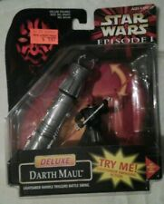 Delux DARTH MAUL Lightsaber Handle Triggers Battle Swing Action Figure Star Wars