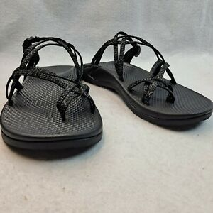 Chaco Women's Zong EcoTread Slip-On Sandals Toe Loop Black Size US 11