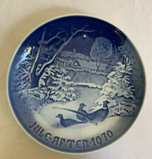 Royal Copenhagen Plate Jule After 1970 Pheasants in the Snow at Christmas