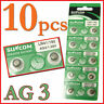 10pcs/pack AG3 SG3 LR41 192 Alkaline coin Button coin Cell Battery Suncom