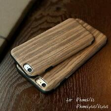 Natural Wood Wooden Bamboo Back Case Cover Protector For iPhone 7 SE 6/6S Plus