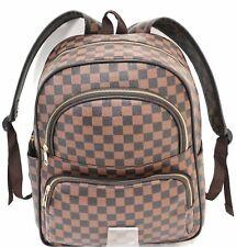 80921f047f New Designer Girls Women Checked Rucksack Backpack Fashion Shoulder Handbag  UK