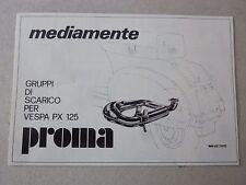 ADVERTISING PUBBLICITA' GRUPPI DI SCARICO PER VESPA PX 125 PROMA  -- 1983