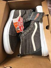 Footlocker Men's Vans SK8 Hi Tops Size 7.5 Grey Trainers Shoes Leather Boots New