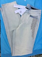 LADIES CALVIN KLEIN LIGHT WASH ULTIMATE SKINNY  EMBROIDERY JEANS 31/12 NWT $89