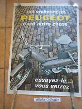 POSTER  AFFICHE ORIGINALE PEUGEOT CYCLO VELOMOTEUR MOBYLETTE MOTO 103 102 PUB
