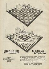 Y0357 LINOLEUM il miglior pavimento - Pubblicità d'epoca - Advertising