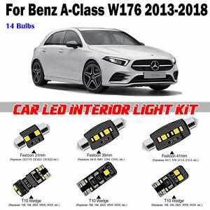 14pcs White LED Interior Light Kit For Benz A-Class W176 2003-2018 Error Free