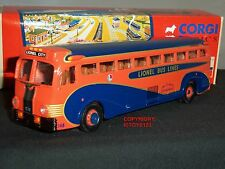 CORGI 53902 YELLOW COACH 743 LIONEL CITY BUS LINES AMERICAN DIECAST MODEL