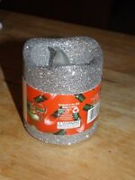 """It's In The Bag 3"""" LED flickering/flameless silver glitter candle (NEW"""
