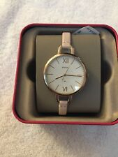 NWT Fossil ES4356 Women's Watch ANNETTE THREE-HAND PASTEL PINK LEATHER