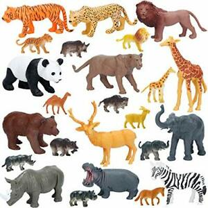 NEW! Realistic Large Wild Zoo Animals Figurines, Jumbo Safari Animals Figures...