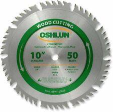 Oshlun Sbw-100050 10-Inch 50 Tooth 4 and 1 Combination Saw Blade with 5/8-Inch A