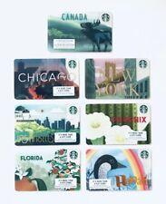 2019 Starbucks City Cards 7 Hawaii Canada Florida Phoenix LA Chicago NYC Lot Set
