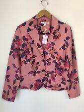 Cabi Size 10 Floral Blazer Rose Garden Jacket Pink NWT $108