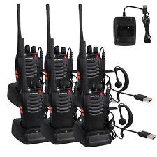 6 PCS  BaoFeng Walkie Talkies 888S 2 Way Radio UHF 400-470MHZ 16CH Long Range