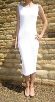Midi Maxi Length Womens Vest Dress Cotton Summer Stretch Size 8 10 12 14 16 18