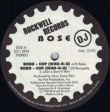 "★★ 12"" US BASS** BOSE  - ROBO-COP ** (ROCKWELL PROMO'88)★★8085"