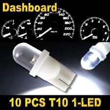 10x White T10 W5W 194 168 2825 1-LED Wedge Light Bulbs Car Dashboard Side Lamp