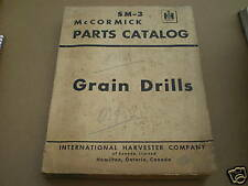 FARMALL IH GRAIN DRILLS PARTS MANUAL CATALOG