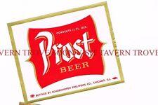 1950s Schoenhofen Edelweiss Prost Beer 12oz Chicago Label Tavern Trove