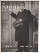 """Edward G. Robinson   """"Middle Of The Night""""   Playbill  1957   Broadway"""