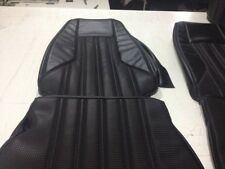 Valiant CL Charger Seat Trim Covers,black Chrysler+basketweave Inserts,full Set
