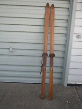 """New listing Vintage L. Bamberger & Co. 75"""" Wood Skis by Croswold 1920's-1940's Wall Decor"""