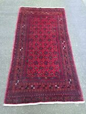 Old Bashir Handwoven Long Rug With Mina Khani Design