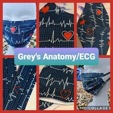 GREY'S ANATOMY/ECG/MEDICS - Hand Made Reusable Cotton Face Mask/Face Covering