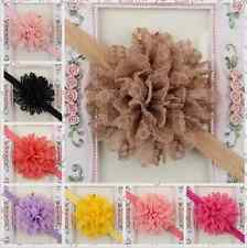 14pcs/lot Kids Girl Baby Headband Toddler Lace Bow Flower Hair Band Headwear