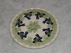 Polish Pottery Trivet! Bunny Pattern!