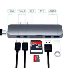 7 in1 For Macbook Pro USB Type-C 4K HDMI Hub Adapter Storage Card Reader USB 3.0