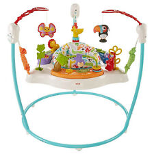 Fisher-Price Colorful Light Up Comfy Animal Activity Baby Bouncer Toy (Used)