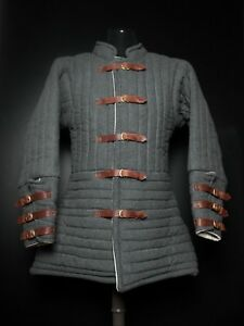 Gambeson Type Medieval Padded Armour Coat SCA Fighting Arming Jacket